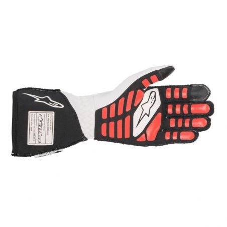 Alpinestars tech-1 zx v2 guantes wht/blk/red