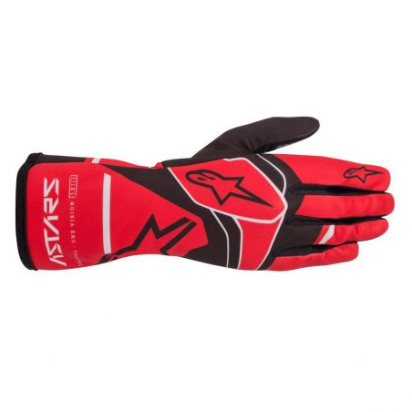 Alpinestars tech-1 k race v2 solid guantes red/blk/gry