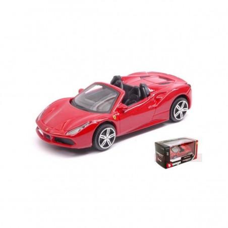 Bburago Ferrari 488 SPIDER  rojo escala  1:43