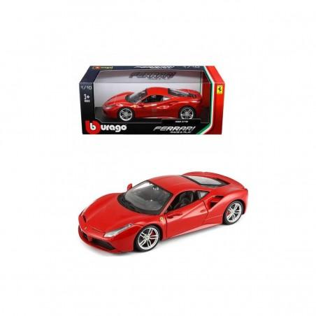Bburago Ferrari 488 GTB  rojo escala 1:43