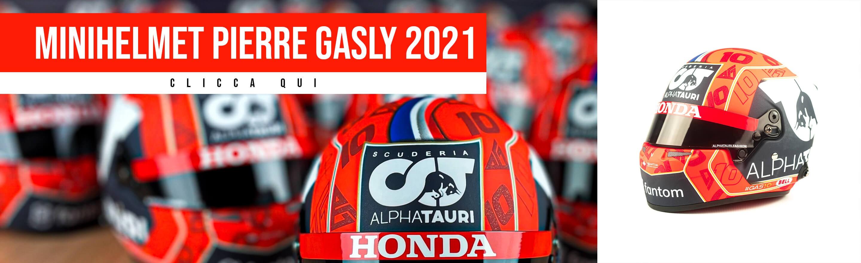 Mini Casco Pierre Gasly 2021 F1